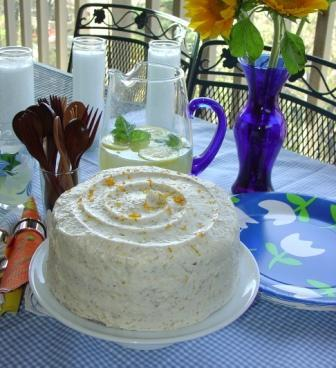 Orange Citrus Vegan Carrot Cake